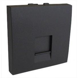 Накладка для розетки телефонной, компьютерной RJ,  45х45 мм (черный бархат) LK45 |853201| Экопласт