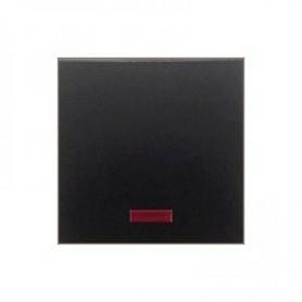 Выключатель 1-кл., c индикатором (схема 1L) 16 A, 250 B (черный бархат) LK60 | 860208| Экопласт