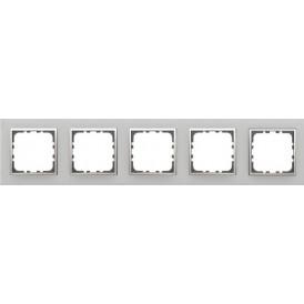 Рамка 5-постовая из натурального анодированного алюминия LK60