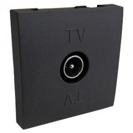 Розетка TV оконечная (черный бархат) LK45  | 852108| Экопласт