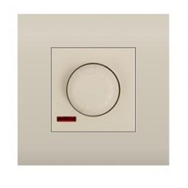 Светорегулятор поворотный нажимной 600 Вт Экопласт LK45 бежевый