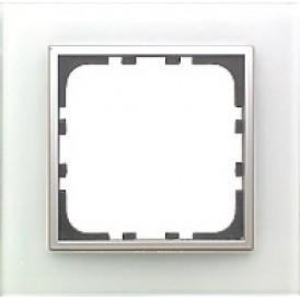 Рамка 1-постовая из натурального светлого стекла LK45  | 854111| Экопласт