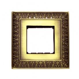 Рамка 1-постовая декоративная металлическая в комплекте с суппортом (бронза), LK45 | 854120-1| Экопласт