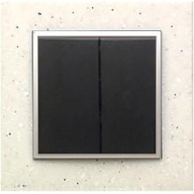 Выключатель 2-кл.  (схема 5) 16 A, 250 B (черный бархат) LK60 | 861101 | Экопласт