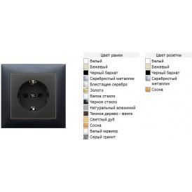 Розетка  с з/к, без шторок (черный бархат) LK60