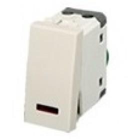 Выключатель с индикатором 45х22,5 мм (схема 1L) 16 A, 250 B (белый) LK45 | 850304 | Экопласт