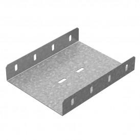 Соединитель боковой к лоткам УЛ 100х50, 100х65 | СЛБ-100 (50/65) (1 мм) УЛ | OSTEC