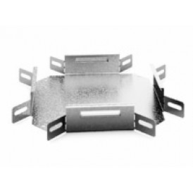 Соединитель угловой крестообразный к лотку 50х50 | УСХ-50х50 | OSTEC