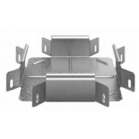 Соединитель угловой крестообразный к лотку УЛ 100х100 | УСХР-100х100 УЛ | OSTEC
