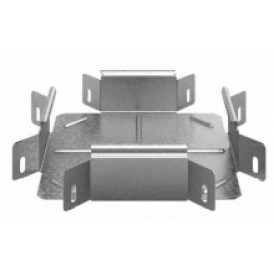 Соединитель угловой крестообразный к лотку УЛ 100х50 | УСХР-100х50 УЛ | OSTEC