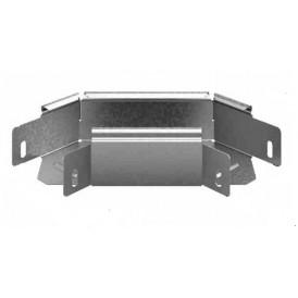Соединитель угловой плоский к лотку УЛ 100х65 | УСПР-100х65 УЛ | OSTEC