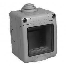 Коробка IP55 Экопласт LK45 для открытой проводки на 1 пост 45х45 мм