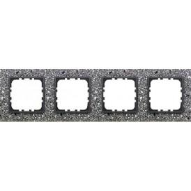 Рамка 4-постовая из декоративного камня (серый гранит) LK60