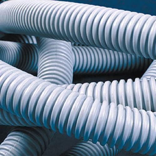 Труба ПВХ гофрированная 20 мм c протяжкой лёгкая (100м) ДКС