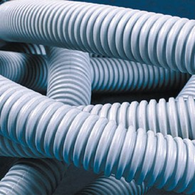 Труба ПВХ гофрированная 32 мм c протяжкой лёгкая (25м) ДКС
