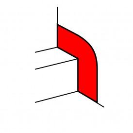 Накладка на стык со стеной - для кабель-каналов шириной от 195 до 220 мм | 010699 | Legrand