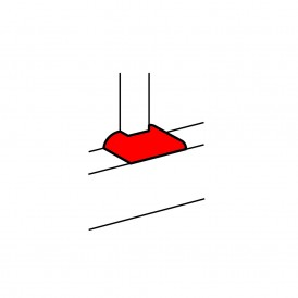 Отвод плоский с переходом на кабель-канал шириной 80мм, для кабель-каналов 150х65мм, 195х65мм, 220х65мм | 010733 | Legrand