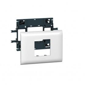 Суппорт Mosaic 2 модуля, с рамкой, 85мм | 010992 | Legrand