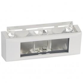 Рамка Mosaic 6 модулей, для установки на кабель-канал, цвет белый | 031614 | Legrand