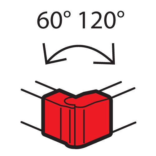 Внешний изменяемый  угол - от 60° до 120° - для кабель-каналов Metra 160x50 | 638092 | Legrand