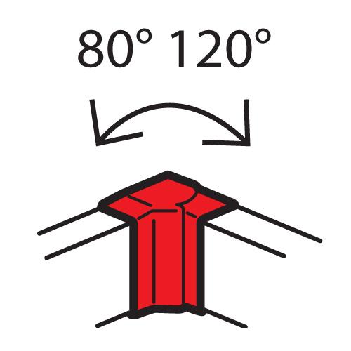 Внутренний изменяемый угол - от 80° до 120° - для кабель-каналов Metra 130x50   638041   Legrand