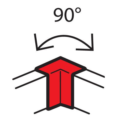 Внутренний неизменяемый угол 90° - для кабель-каналов Metra 100x50 | 638011 | Legrand