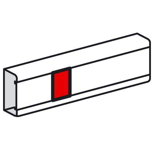 Накладка на стык крышки - для кабель-каналов Metra 85х50, 100х50 и 130х50   638001   Legrand
