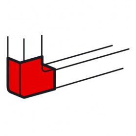 Плоский угол 100х50 METRA | 638013 | Legrand
