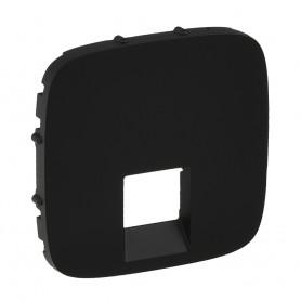 Valena ALLURE.Лицевая панель для одиночных телефонных/информ.розеток Антрацит | 755418 | Legrand