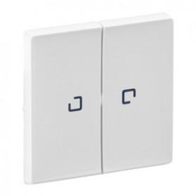Valena LIFE.Лицевая панель для выключателя двухклавишного с подсветкой .Белая | 755220 | Legrand