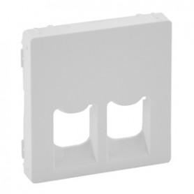 Valena LIFE.Лицевая панель для двойных телефонных/информационных розеток.Белая | 755420 | Legrand