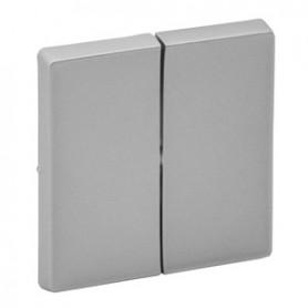 Valena LIFE.Лицевая панель для двухкл. выключателя. Алюминий | 755022 | Legrand
