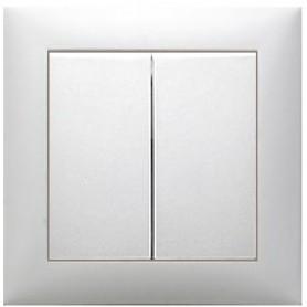 Выключатель 2-кл.  (схема 5) 16 A, 250 B (белый) LK60 | 861101 | Экопласт