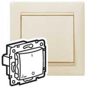 Valena Выключатель 1-клавишный 2-х полюсный IP44 Крем | 774192 | Legrand