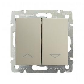 Valena Выключатель жалюзийный (механич. блокировка) Крем | 774304 | Legrand