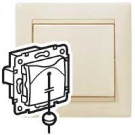 Valena Выключатель кнопочный со шнурком Крем | 774319 | Legrand