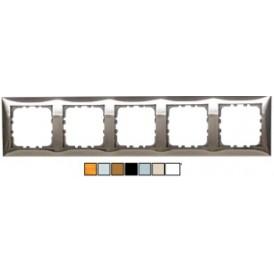 Рамка 5-постовая (блестящее серебро) LK60
