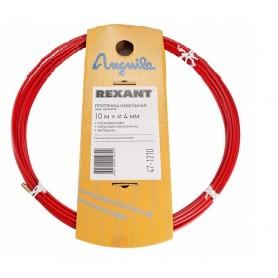 Протяжка кабельная (мини УЗК в бухте), 20м, стальная пластина + полипропилен, d=4мм, латунный наконечник, заглушка.