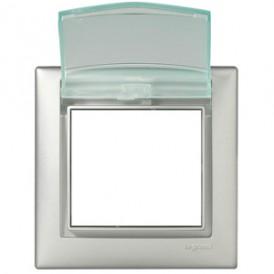 Влагозащищённая рамка - Valena - IP 44 - с крышкой - алюминий | 770150 | Legrand