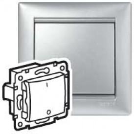 Выключатель 2-полюсный Valena(Алюм) | 770102 | Legrand