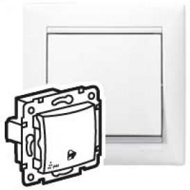 Выключатель без фиксации с символом звонка - Valena - IP 44 - 10 A - 250 В~ - White | 770099 | Legrand
