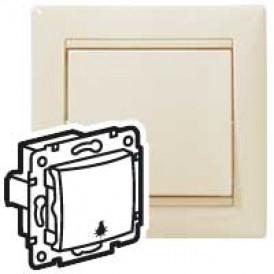 Выключатель без фиксации с символом лампы - Valena - 10 A - 250 В~ - слоновая кость | 774312 | Legrand