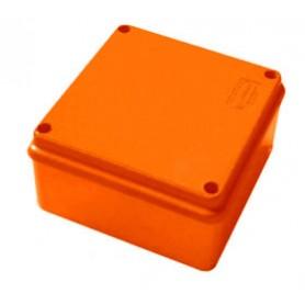 JBS100 Коробка огнестойкая E60-E90,о/п 100х100х55, с гладкими стенками,без галогена, IP56, 5P, (1,5-6 мм2), цвет оранж