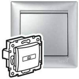 Выключатель для гостиничных номеров - стандарт - Valena - алюминий | 770234 | Legrand