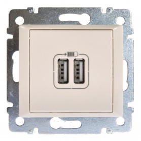 Зарядное устройство 2-pозетка USB слон. кость Valena | 774170 | Legrand