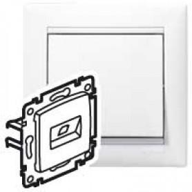 Информационная розетка - Valena - RJ45 - категория 6 - FTP - 1 выход - на винтах - White | 774232 | Legrand
