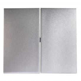 Лицевая панель двухклавишного выключателя Legrand Valena 770252 алюминий