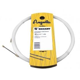 Протяжка кабельная (мини УЗК в бухте), 40м, стеклопруток, d=3мм, латунный наконечник, заглушка.