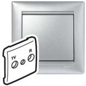 Панель лицевая Valena выключателя TV-FM(Алюм) | 770142 | Legrand