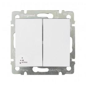 Переключатель на 2 направ. 2-клавишный влагозащ.серии Valena IP44бел | 770098 | Legrand